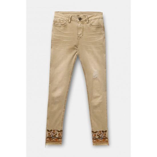 Desigual Soldes Pantalon en jean skinny