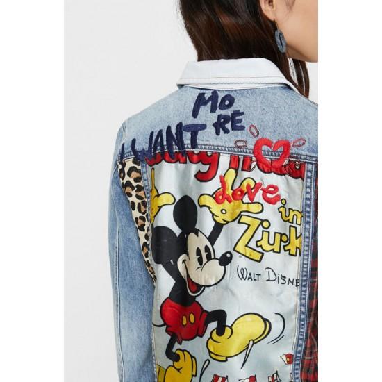 Desigual Soldes Veste en jean Mickey