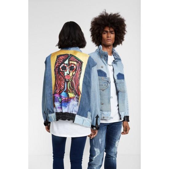 "Desigual Soldes Iconic jacket ""Expressionist girl"""
