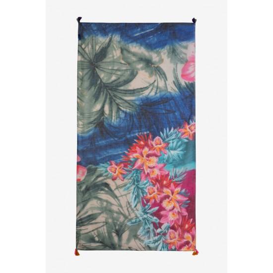 Desigual Soldes Foulard hawaïen fleuri