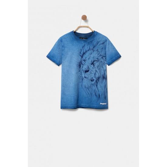 Desigual Soldes T-shirt lion 100% coton