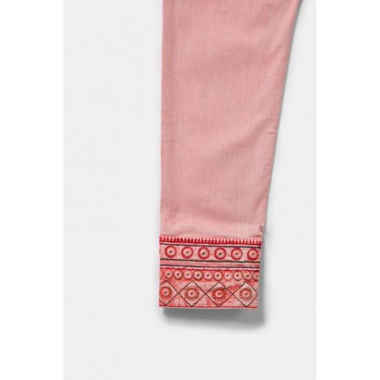 Desigual Soldes Pantalon slim chevilles brodées