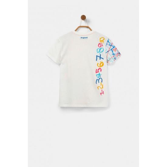 Desigual Soldes T-shirt basique 100% coton