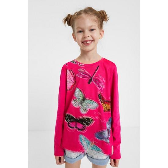 Desigual Soldes T-shirt papillons 3D