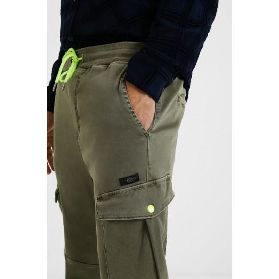Desigual Soldes Pantalon jogger cargo