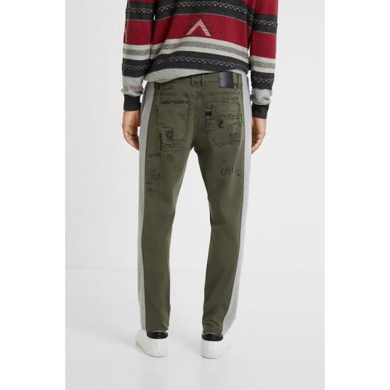 Desigual Soldes Pantalon jogger coton ouaté chino