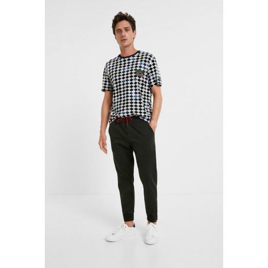 Desigual Soldes T-shirt losanges 100% coton