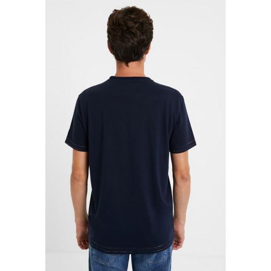 Desigual Soldes T-shirt jacquard 100% coton