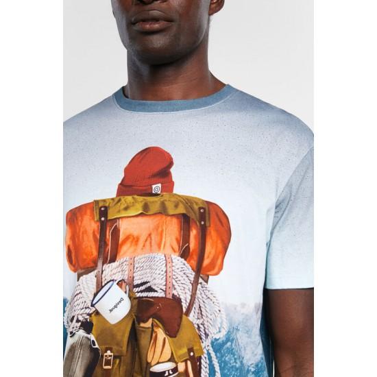 Desigual Soldes T-shirt paysage 100% coton