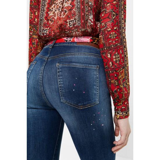 Desigual Soldes Pantalon en jean skinny chevilles