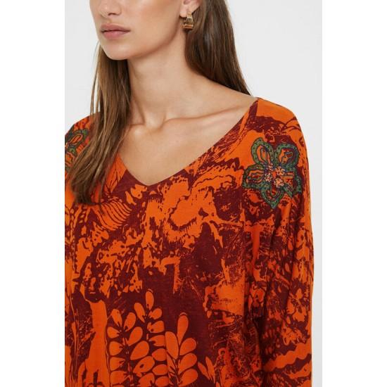 Desigual Soldes T-shirt jacquard floral