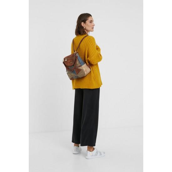 Desigual Soldes Sac à dos-sac patchs et jean