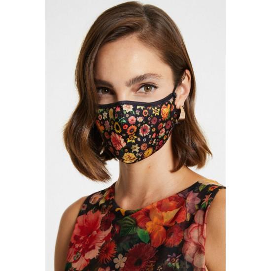 Desigual Soldes Masque fleuri + housse