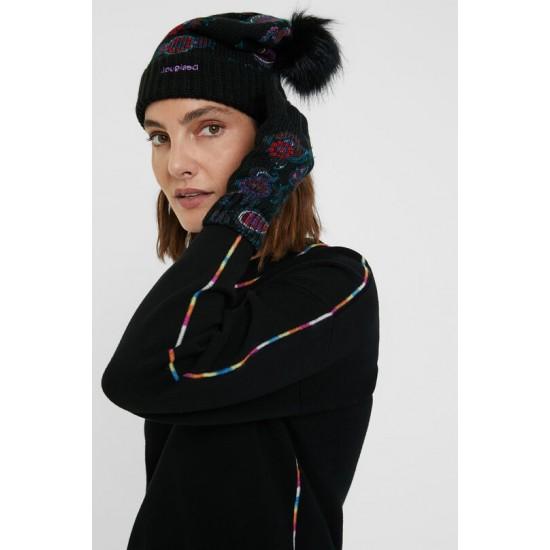 Desigual Soldes Pack bonnet gants Paisley