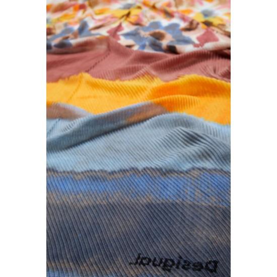 Desigual Soldes Foulard rectangulaire plissé