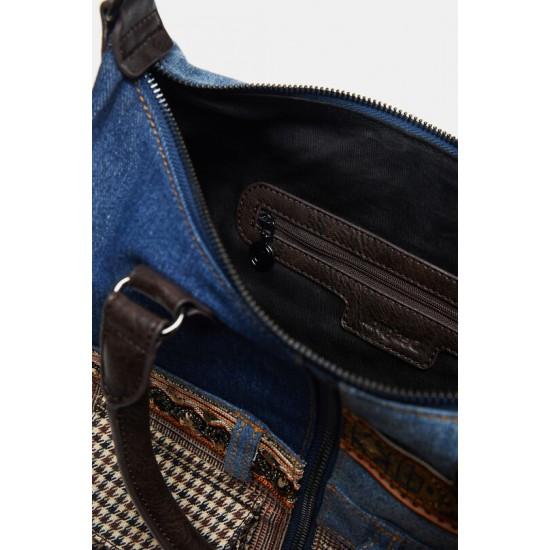 Desigual Soldes Sac patchwork jean