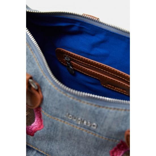 Desigual Soldes Sac en jean fleuri