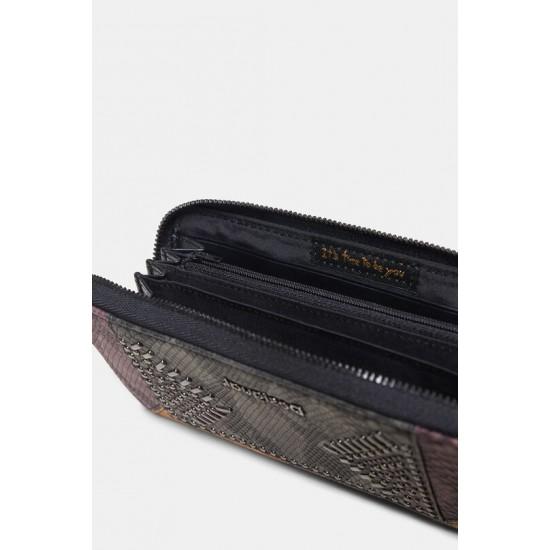 Desigual Soldes Portefeuille effet cuir texturé