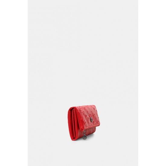 Desigual Soldes Portefeuille rectangulaire logo relief