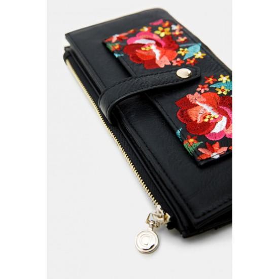Desigual Soldes Porte-monnaie allongé fleurs
