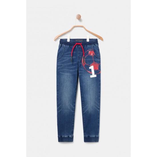 Desigual Soldes Pantalon en jean jogger imprimé