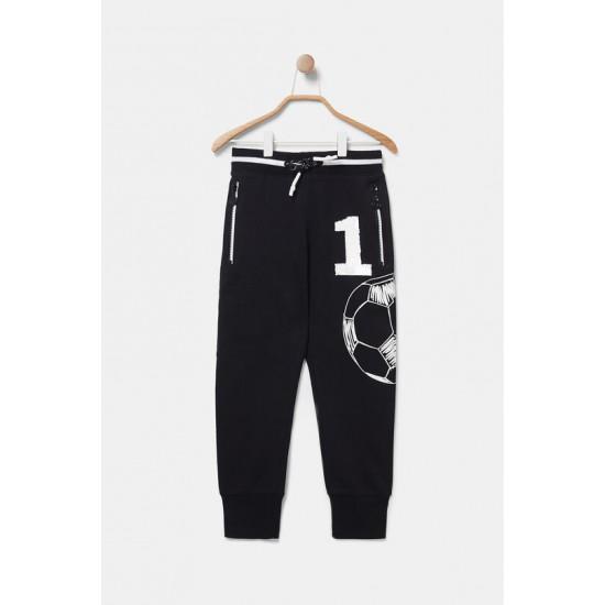 Desigual Soldes Pantalon jogger coton ouaté imprimé