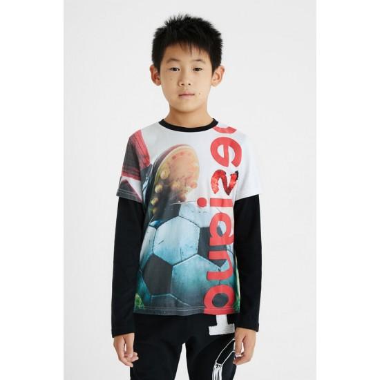 Desigual Soldes T-shirt print photographique football