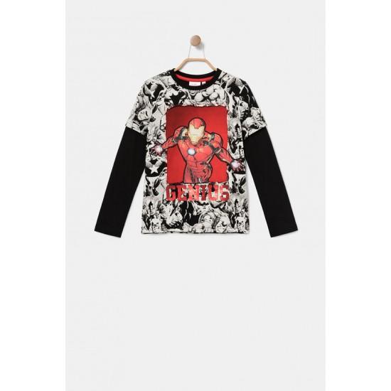 Desigual Soldes T-shirt bande dessinée sequins réversibles