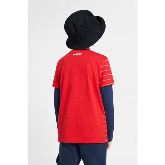 Desigual Soldes T-shirt Spiderman paillettes réversibles