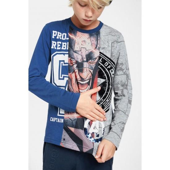 Desigual Soldes T-shirt héros sequins réversibles