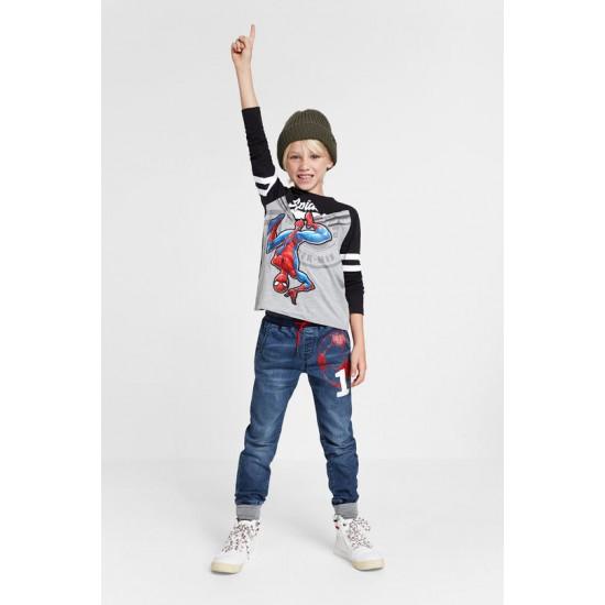 Desigual Soldes T-shirt coton Spiderman