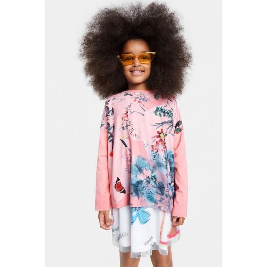 Desigual Soldes T-shirt oversize fleuri