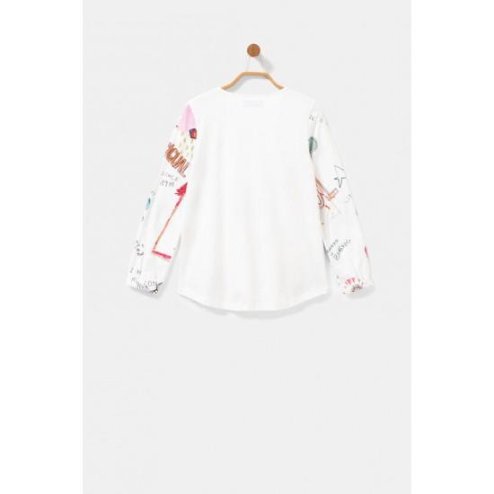Desigual Soldes T-shirt coton effet 3D