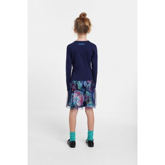 Desigual Soldes Robe jupe double épaisseur 3D