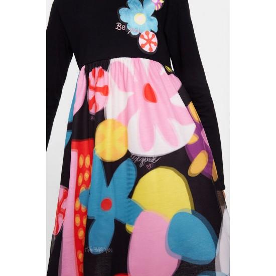 Desigual Soldes Robe taille haute florale