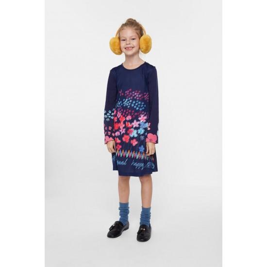 Desigual Soldes Robe coton petites fleurs 3D