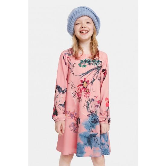 Desigual Soldes Robe trapèze fleurie