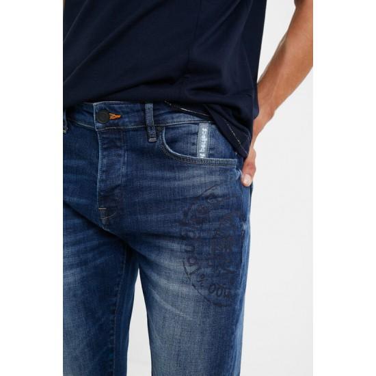 Desigual Soldes Pantalon slim en jean