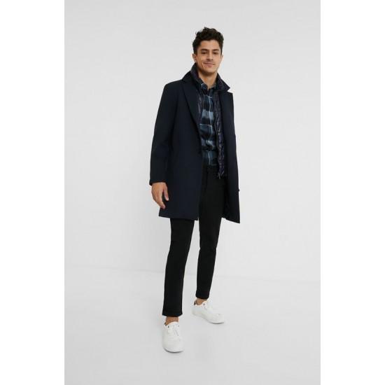 Desigual Soldes Manteau avec doudoue incrustée 2 en 1
