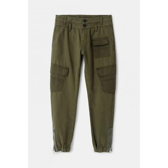 Desigual Soldes Pantalon Baggy poches cargo