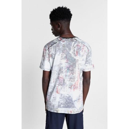 Desigual Soldes T-shirt effet pièce à l'envers