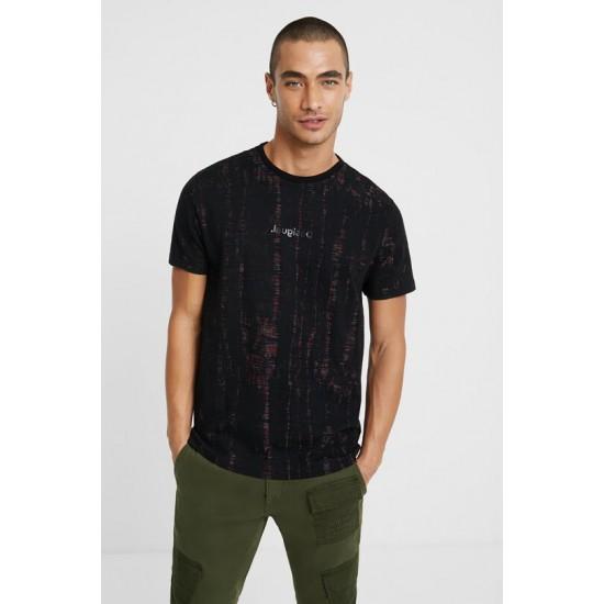 Desigual Soldes T-shirt jacquard dévoré