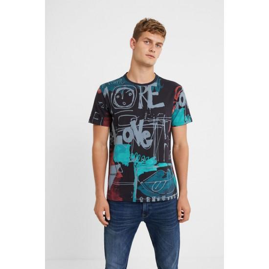Desigual Soldes T-shirt arty 100% coton
