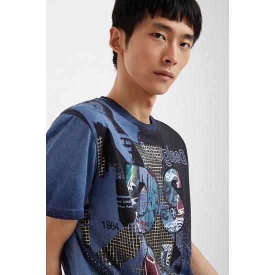 Desigual Soldes T-shirt patchs 100% coton