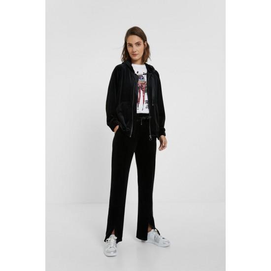 Desigual Soldes Pantalon velours côtelé