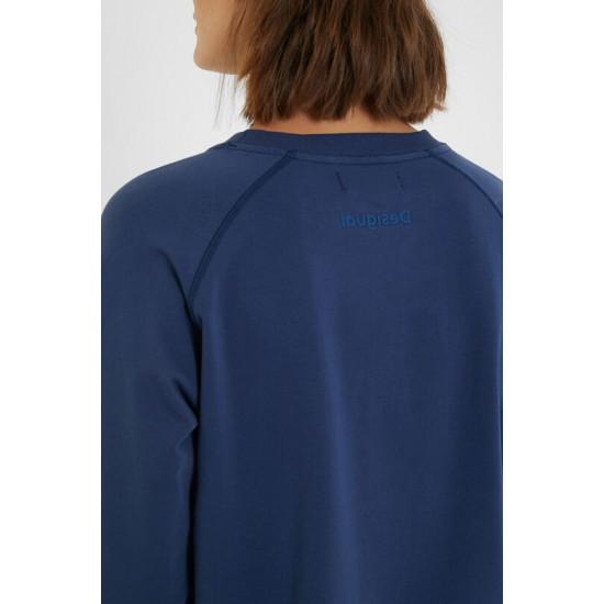 Desigual Soldes Sweat-shirt D inversé imprimé