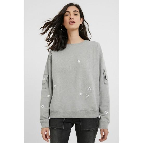 Desigual Soldes Sweat-shirt poches aux manches