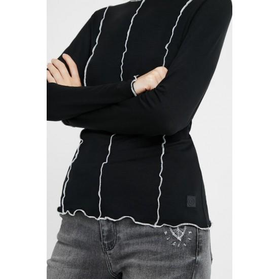 Desigual Soldes T-shirt slim bordures