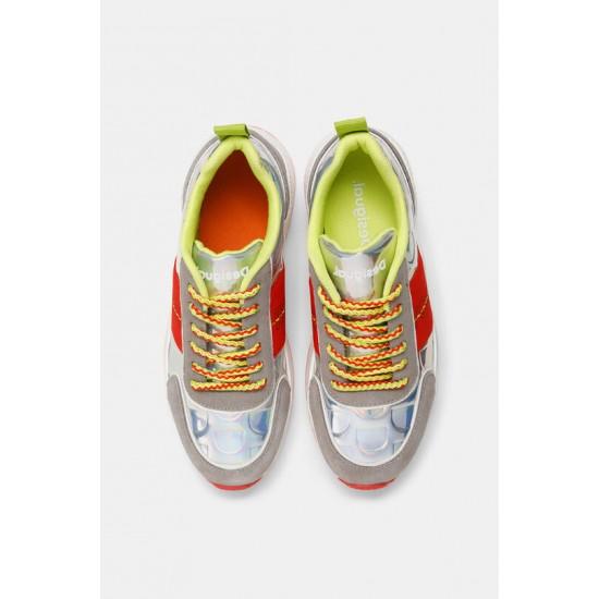 Desigual Soldes Sneakers semelle caoutchouc irisées