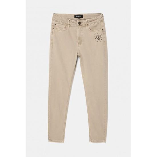 Desigual Soldes Pantalon en jean skinny longueur chevilles